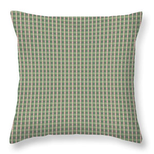 Sage And Pink Checkerboard Throw Pillows