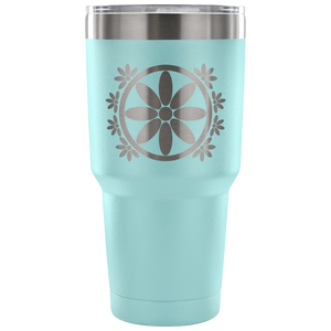 Circle Flower 30 oz. Vacuum Tumbler