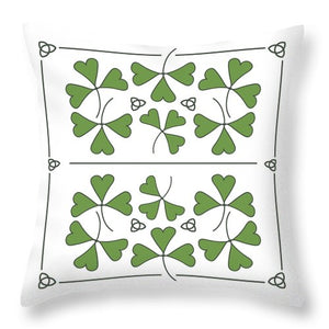 Shamrocks And Trinity Knots Throw Pillows