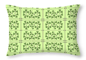 Shamrocks And Trinity Knots Pattern Throw Pillows