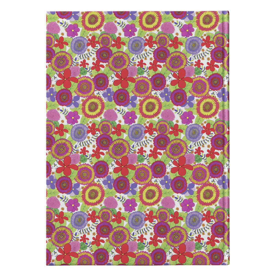 Bright & Cheery Floral Pattern Design Hardcover Journal