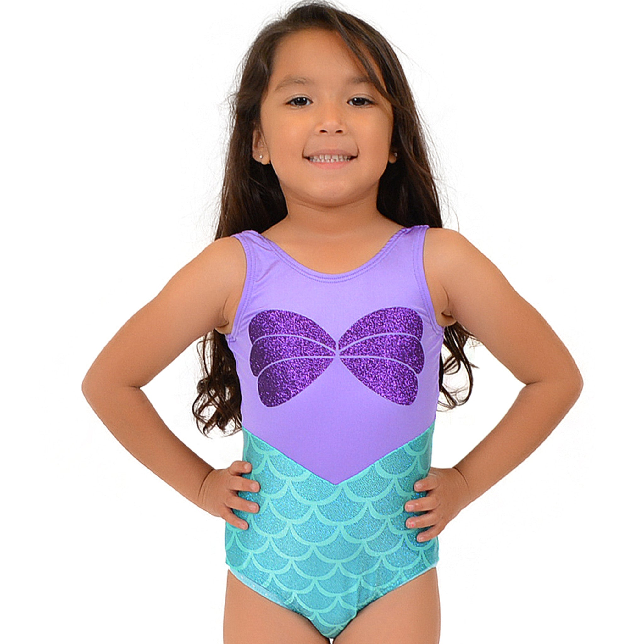 Girl's Mermaid Sparkle Ariel Leotard