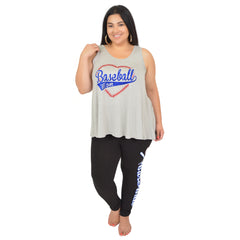 "Women's Modal ""Baseball Mom"" Ava Tunic Tank"