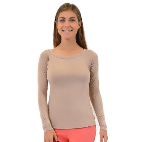 Teamwear Long Sleeve Wide Neck Top