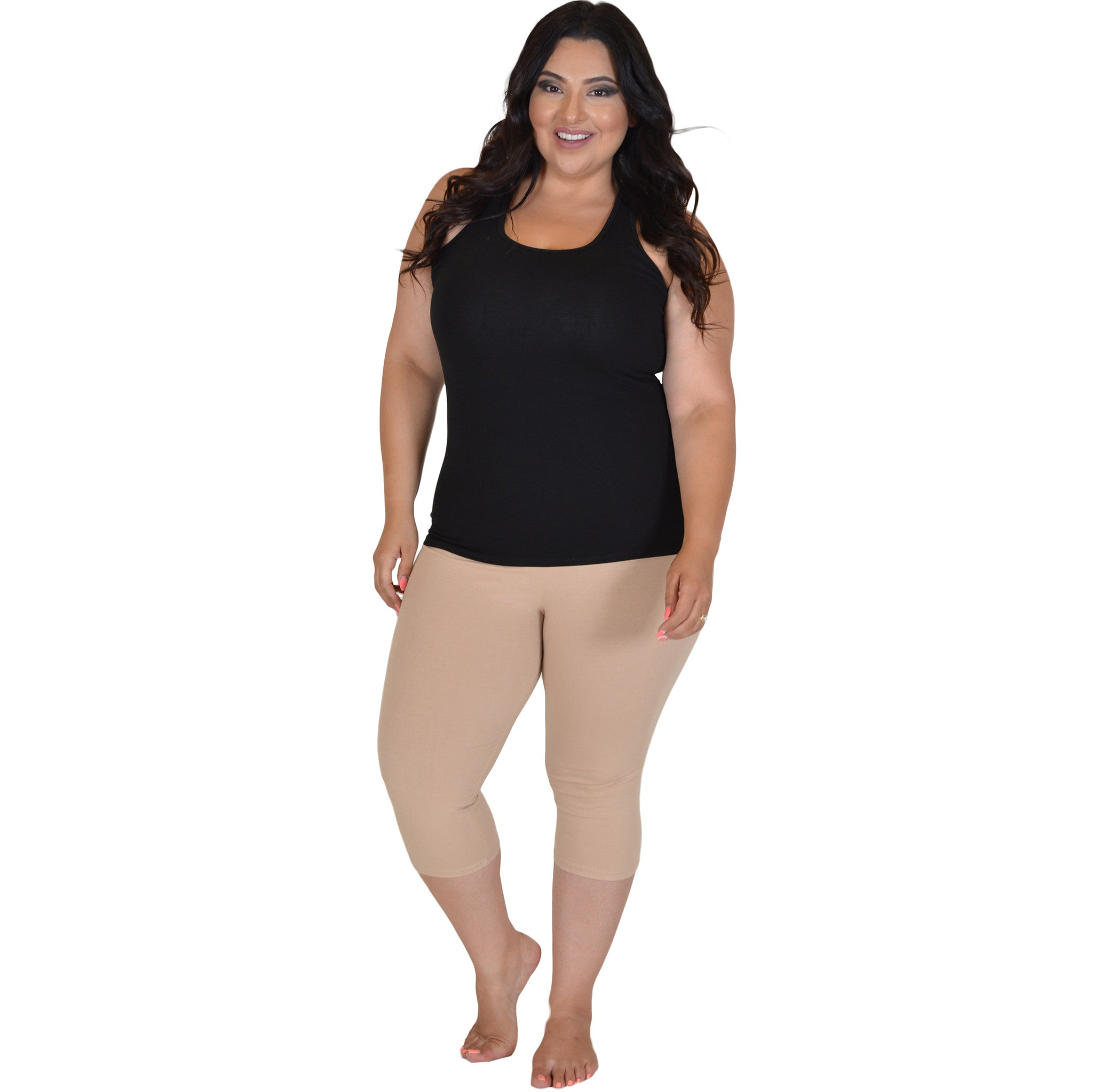 Plus Size Cotton Racerback Tank Top