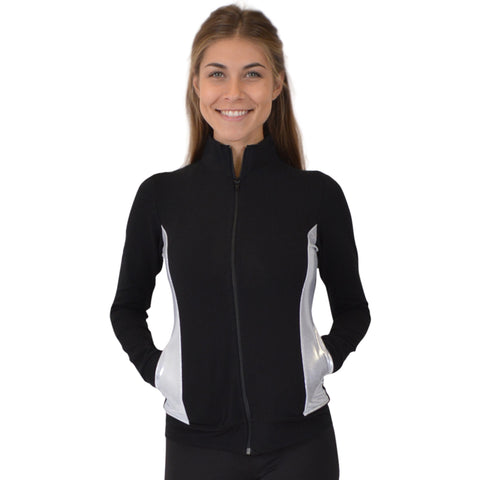 Women's Cadet Warm Up Silver Slit Jacket