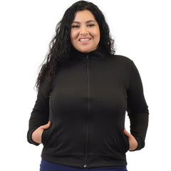 PLUS SIZE Cotton Cadet Warm Up Jacket