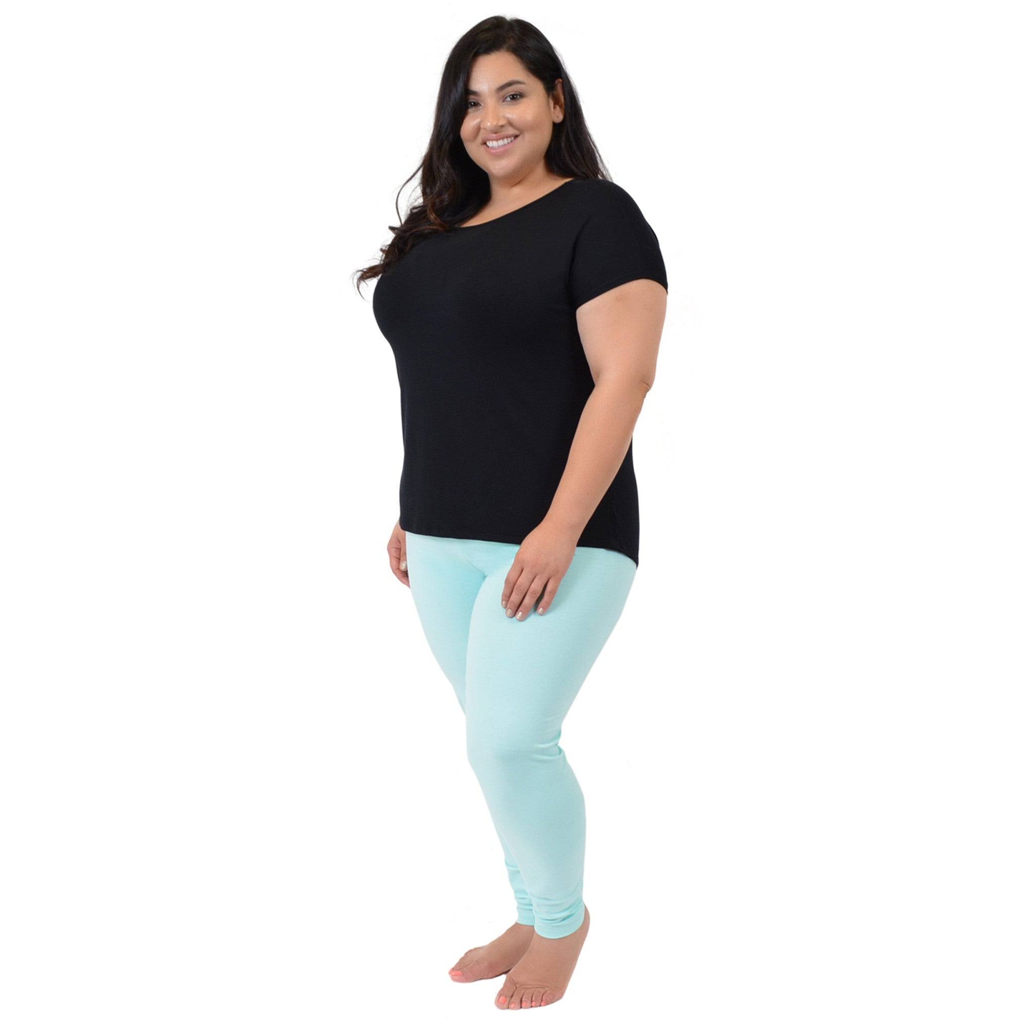 Plus Size High-Low Boatneck Modal Tee