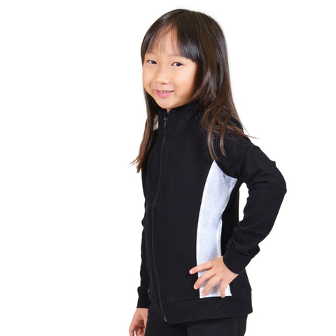 Girl's Cadet Warm Up Silver Slit Jacket