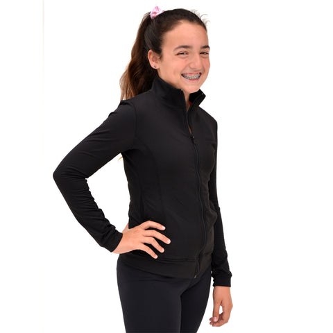Girl's Cotton Cadet Warm Up Jacket