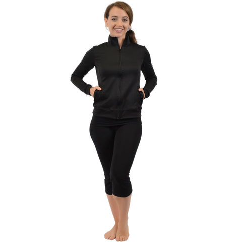 Women's ACTIVE Viscose/Nylon/Spandex Cadet Warm Up Jacket