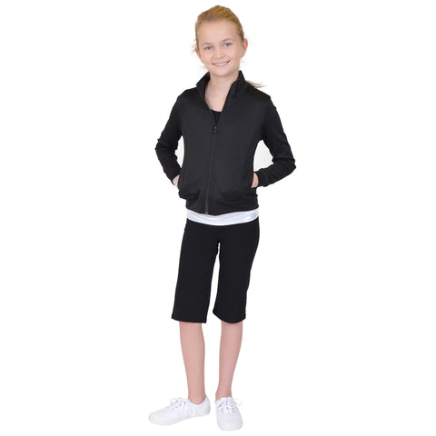 Girl's ACTIVE Viscose/Nylon/Spandex Cadet Warm Up Jacket