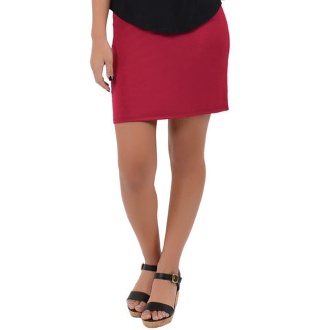 Women's Cotton Stretch Fabric Basic Mini Skirt