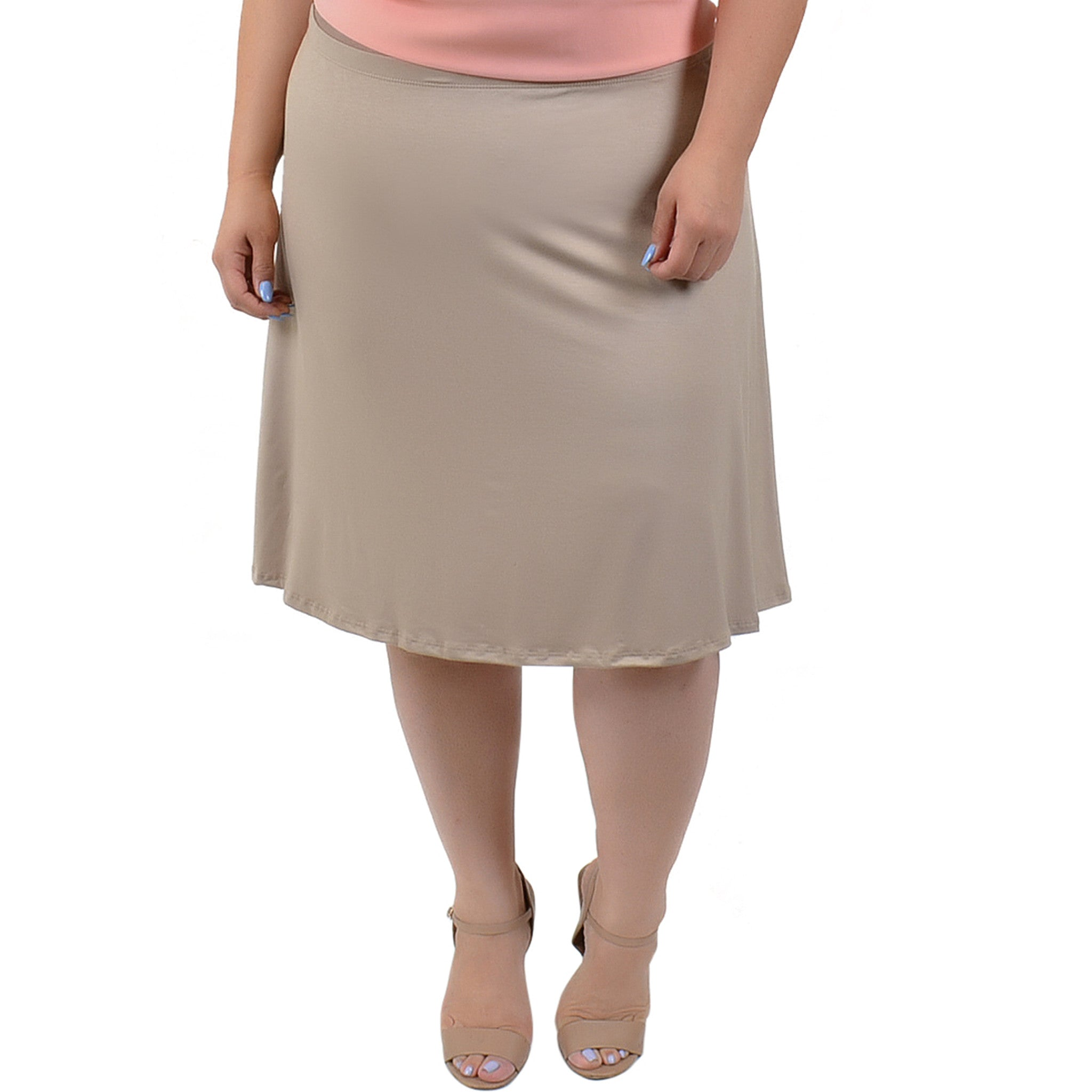 Plus Size A-Line Skirt