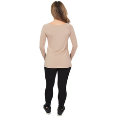 Women's Long Sleeve Wide Neck Top