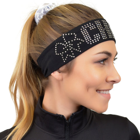 Cheer Rhinestone Sparkly and Shiny Wide Headband