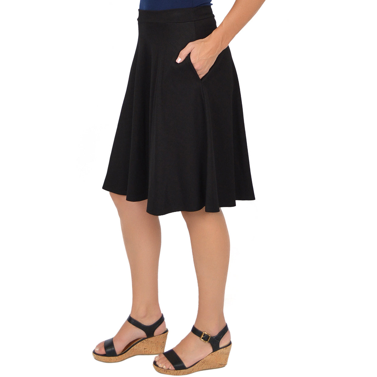 346fa3d2aaf Stretch Is Comfort Women s Plus Size Circle Skirt With Pockets