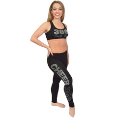 Teamwear CHEER 360 Rhinestone Foldover Leggings