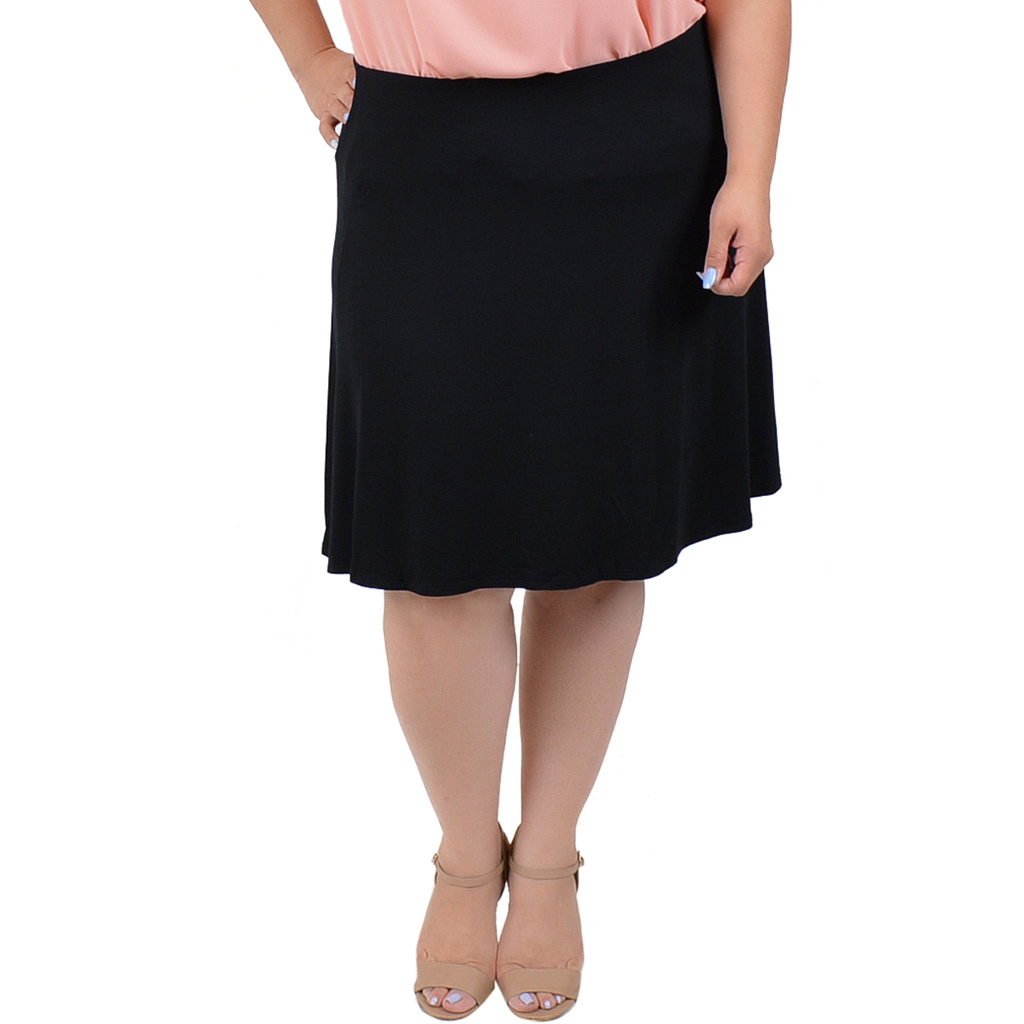 aad42ef1a43 Stretch Is Comfort Women s Plus Size A-Line Skirt
