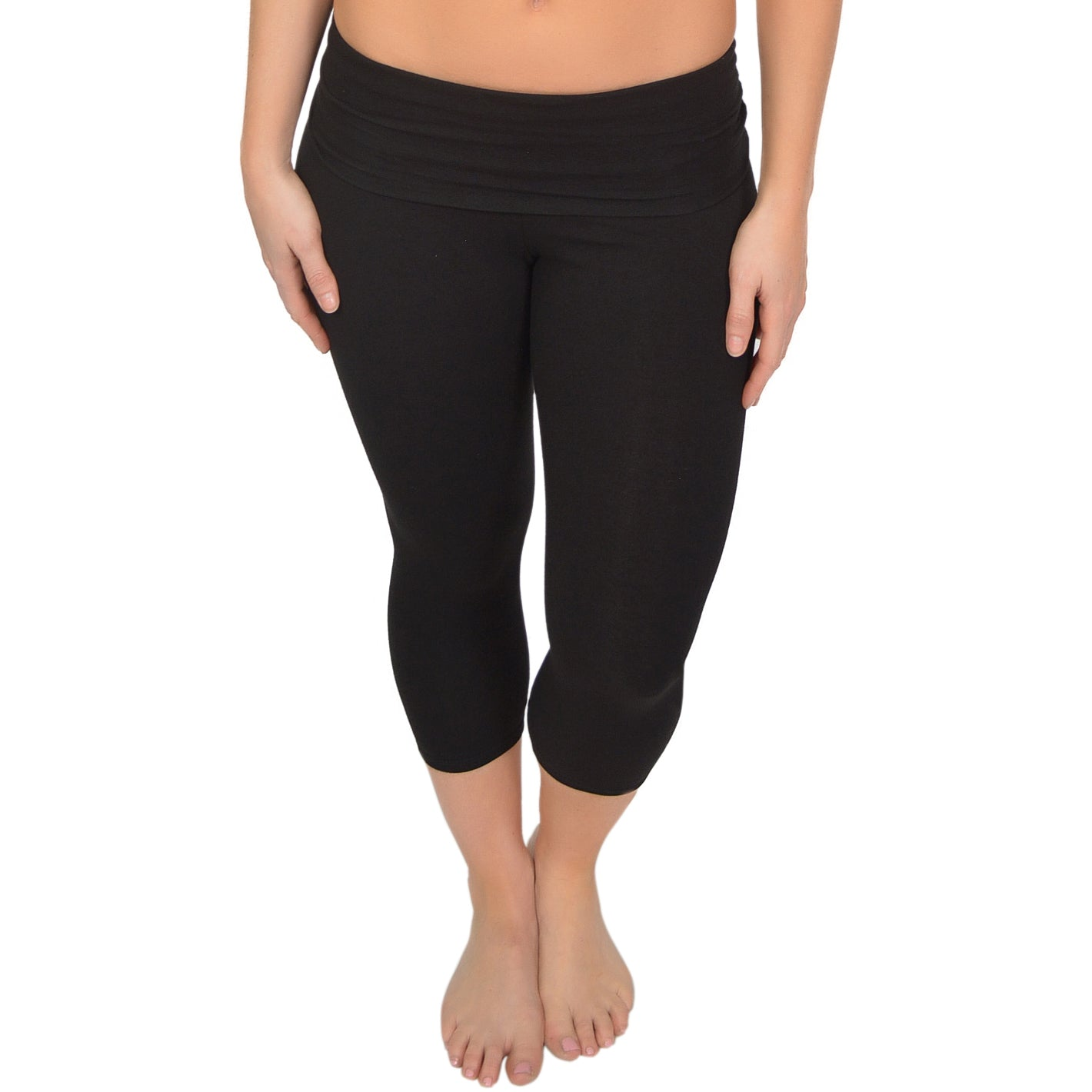 Women's Cotton Foldover Capri Leggings
