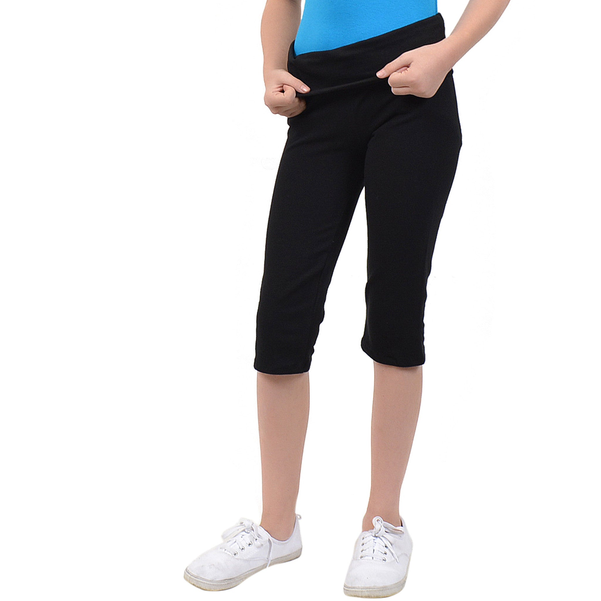 Girl's FOLDOVER Capri Leggings