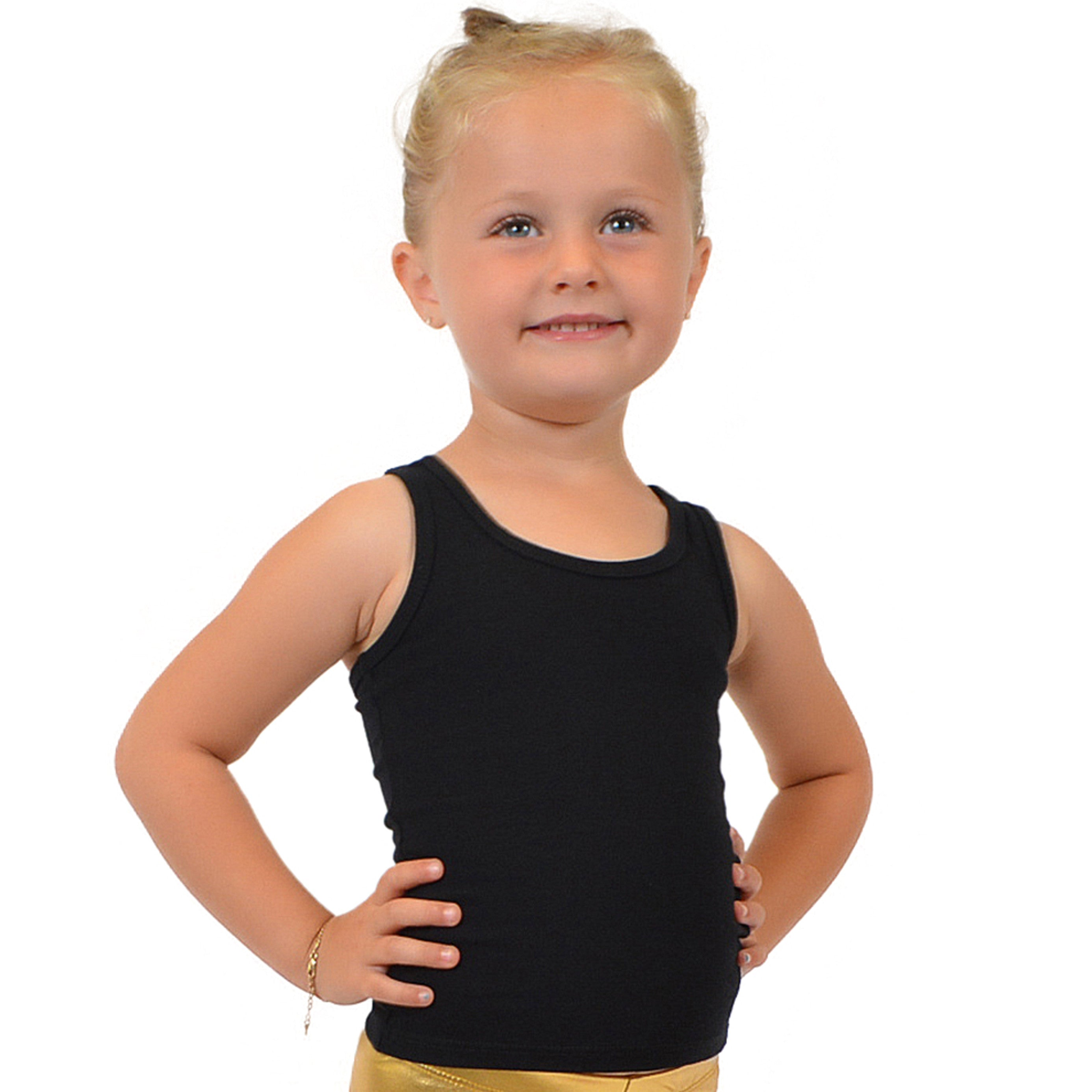 f4a53d3c7d1087 Stretch is Comfort Girl s Cotton Racerback Tank Top – Stretch Is Comfort