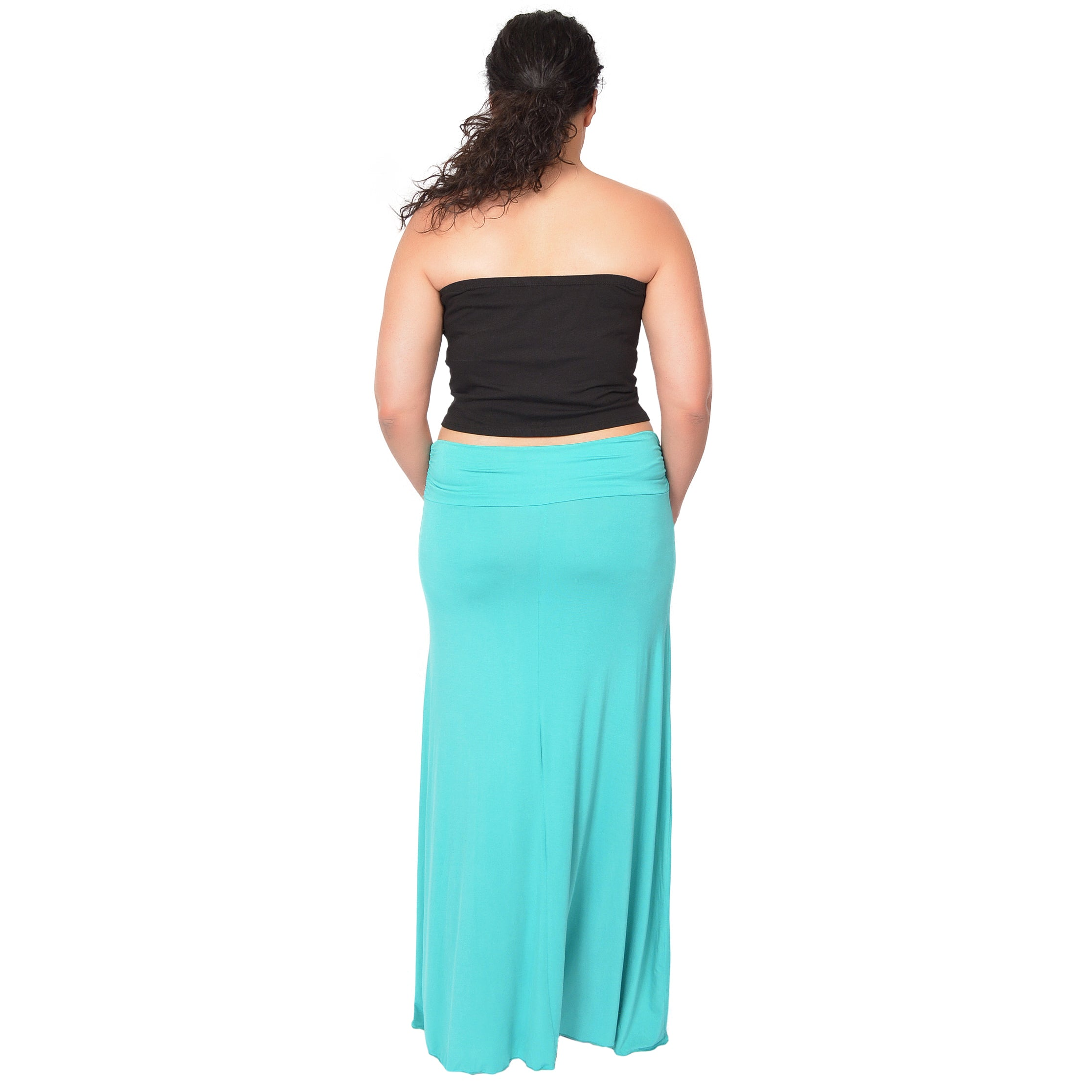 Plus Size Crop Tube Top