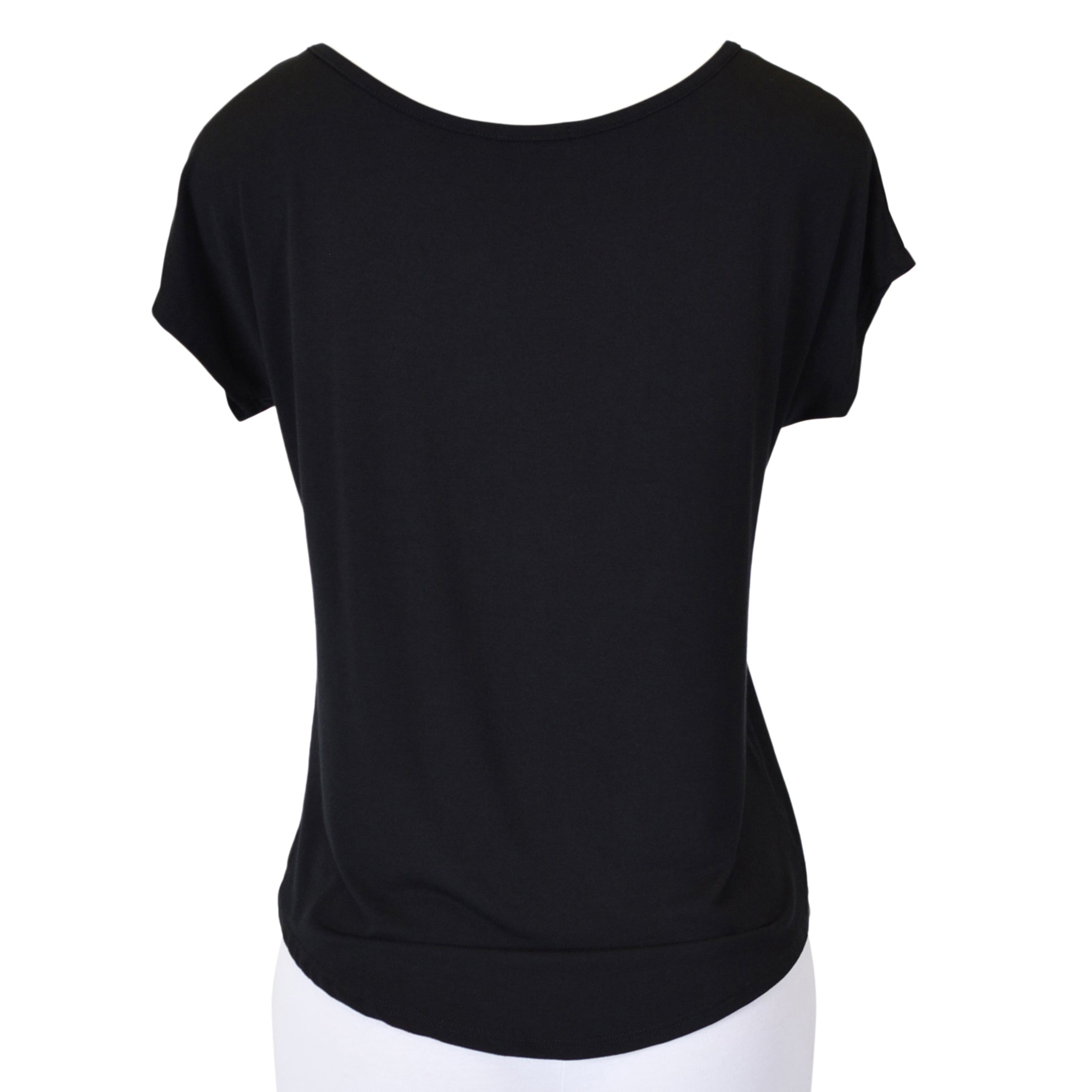 "Women's High-Low Boatneck ""Cheer Mom"" Modal Tee"