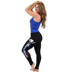 Women's BASEBALL MOM Foldover Leggings