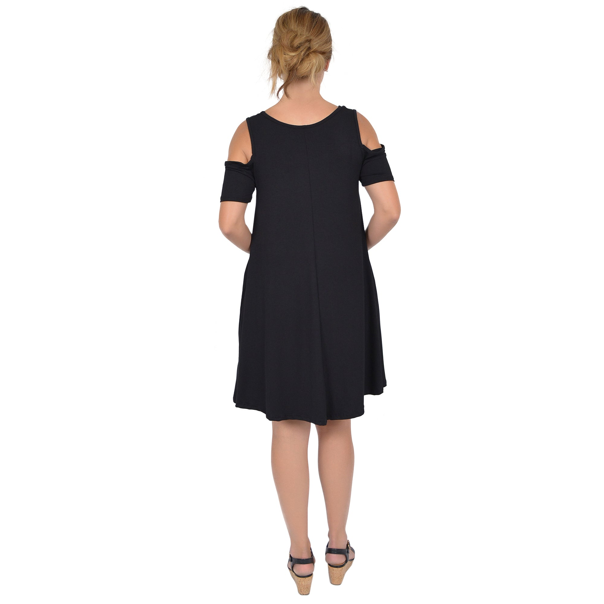 Women's Maggie Open Shoulder Short Sleeve Tank Dress