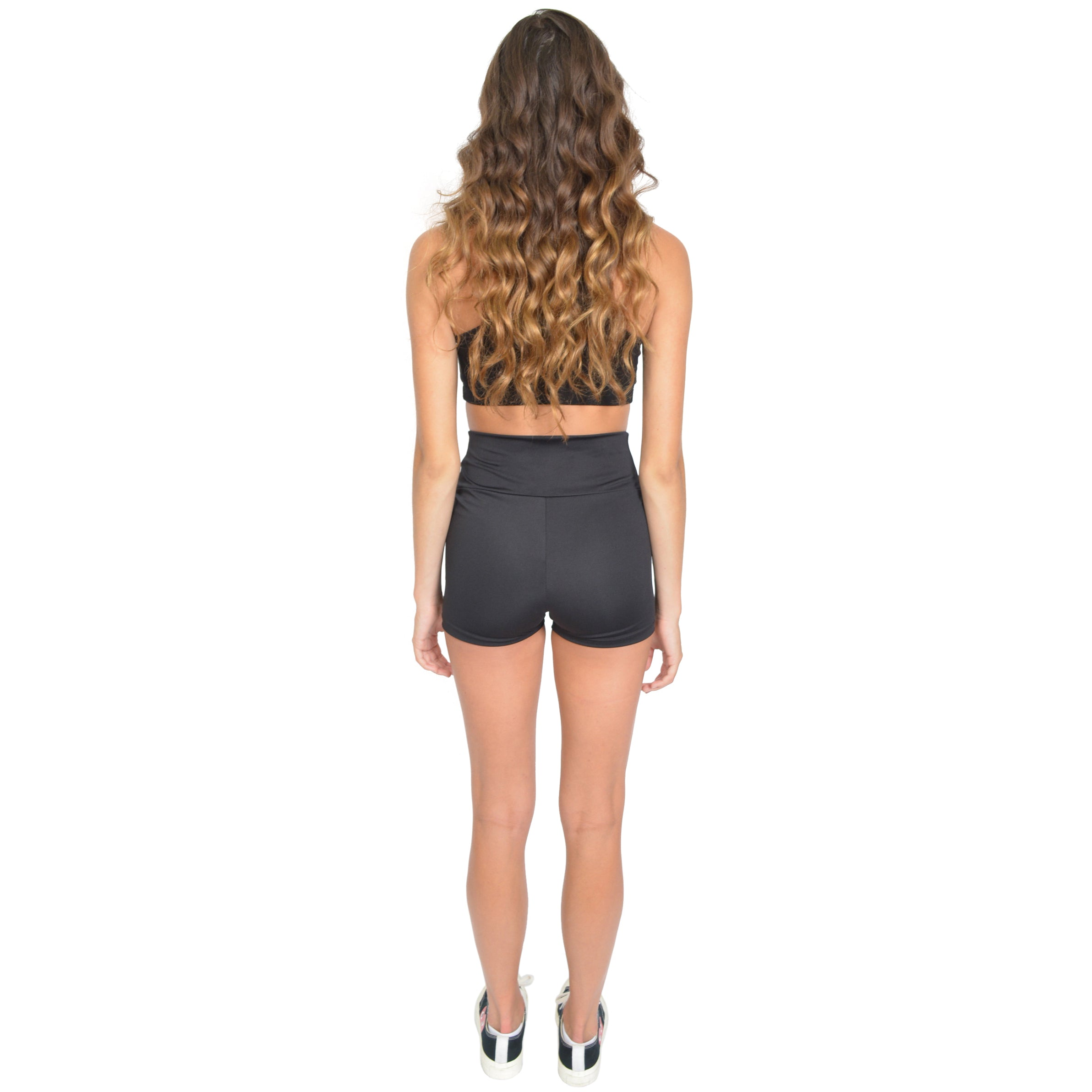 Women's Stretch Performance High Waist Athletic Booty Shorts