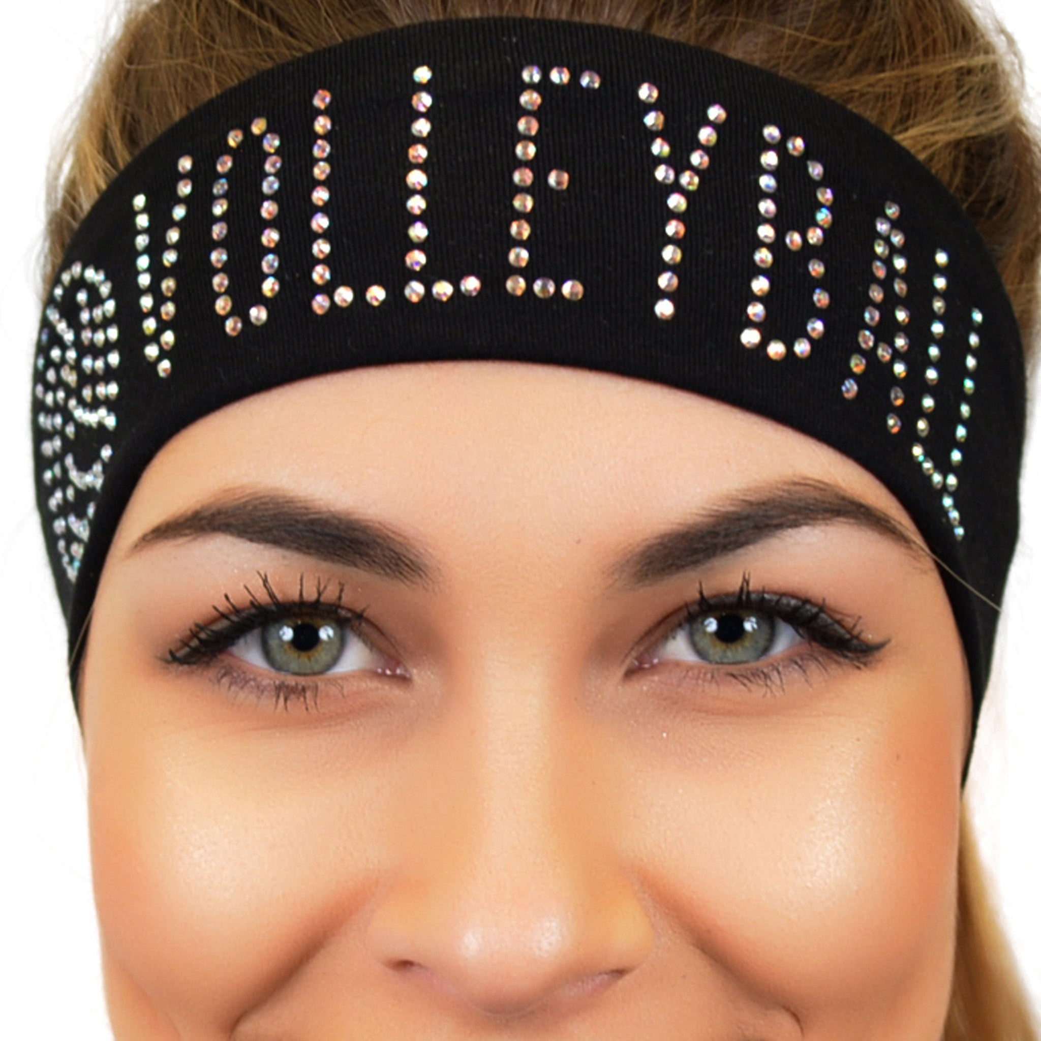 Volleyball Rhinestone Sparkly and Shiny Wide Headband