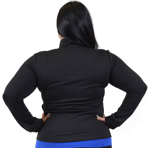 Personalizable and Customizable Plus Size Viscose Cadet Warm Up Jacket