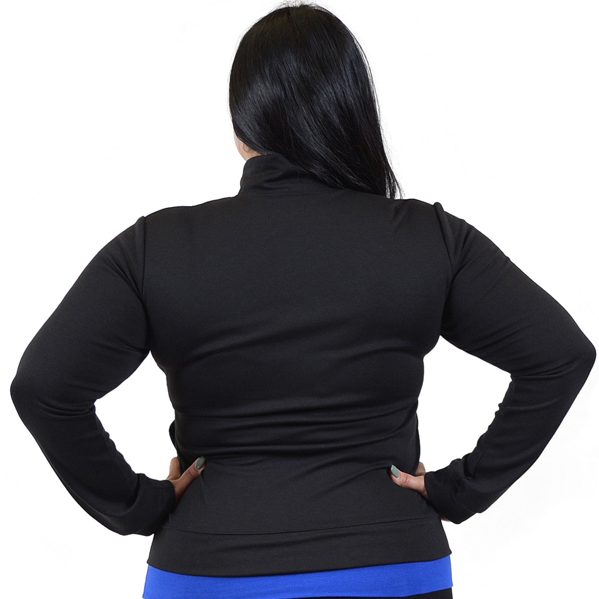 Personalizable and Customizable Plus Size Cotton Warm Up Jacket