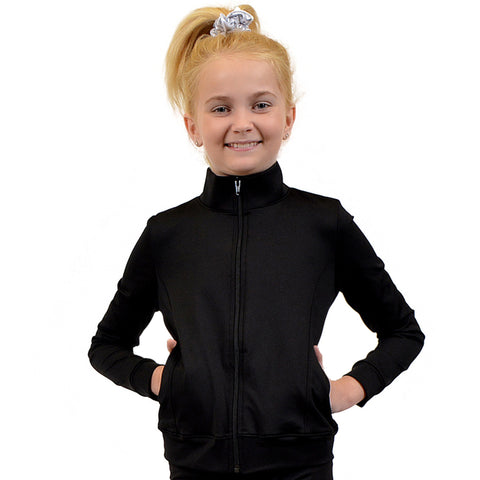 Personalizable and Customizable Girl's Rayon/Poly/Spandex Cadet Warm Up Jacket