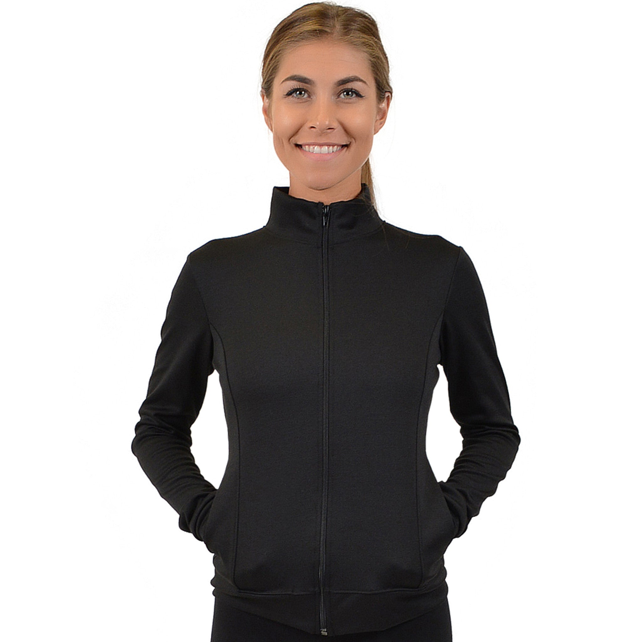 Personalizable and Customizable Women's Cotton Warm Up Jacket