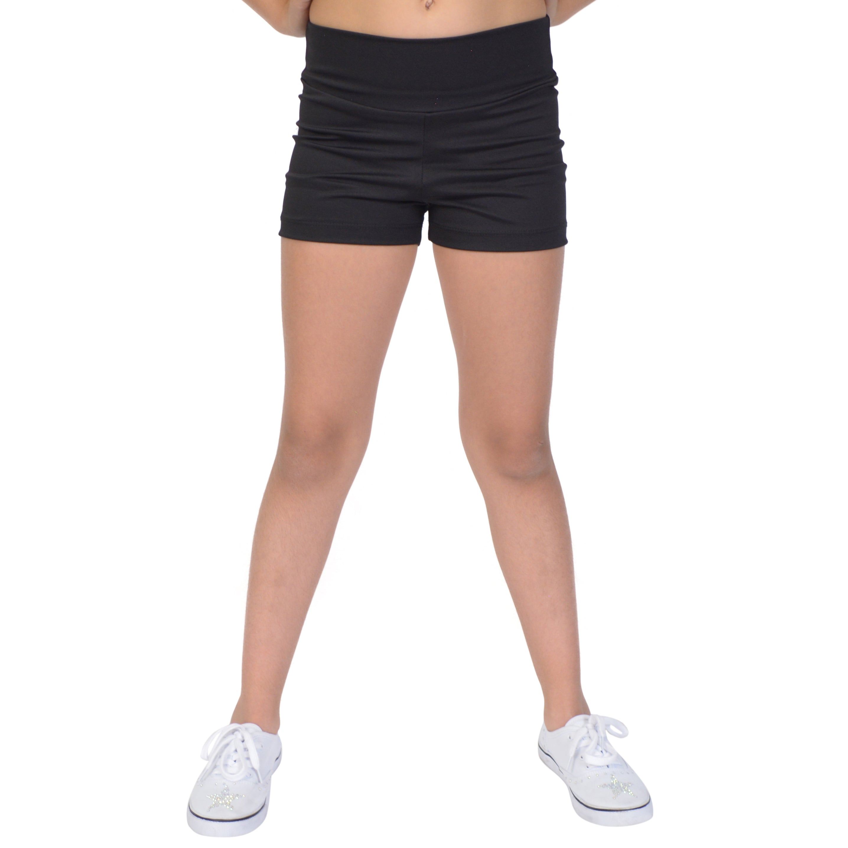 Girl's Stretch Performance High Waist Athletic Booty Shorts