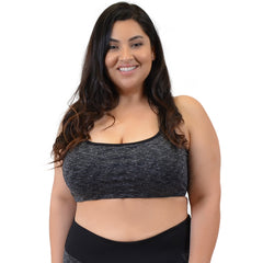 Plus Size Vicky Two-Tone Cross Bra