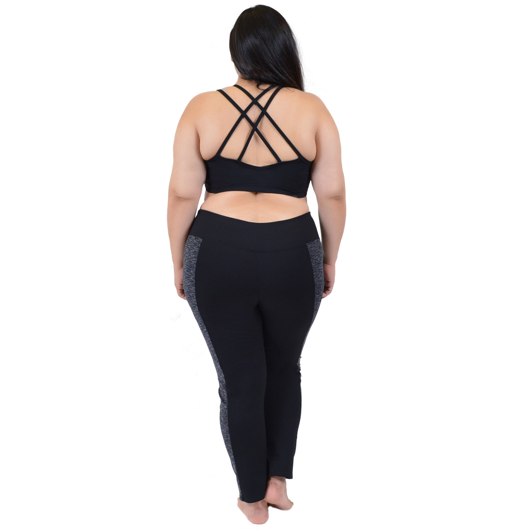 Plus Size Vicky Two-Tone Leggings