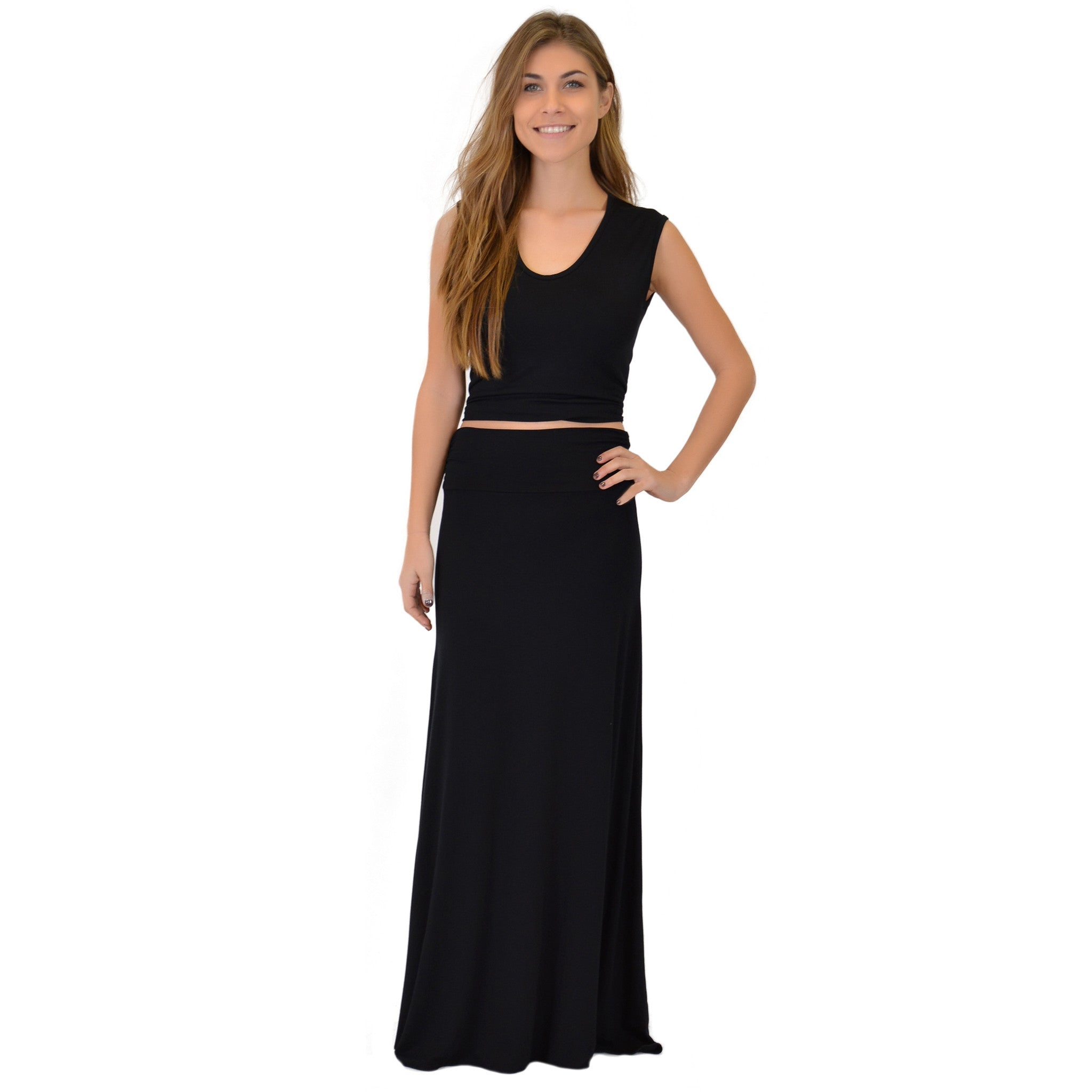 Women's MAXI Long Flowy Stretchy Skirt
