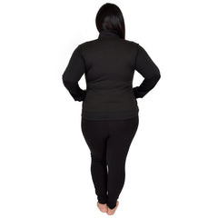 Plus Size ACTIVE Viscose/Nylon/Spandex Warm Up Jacket