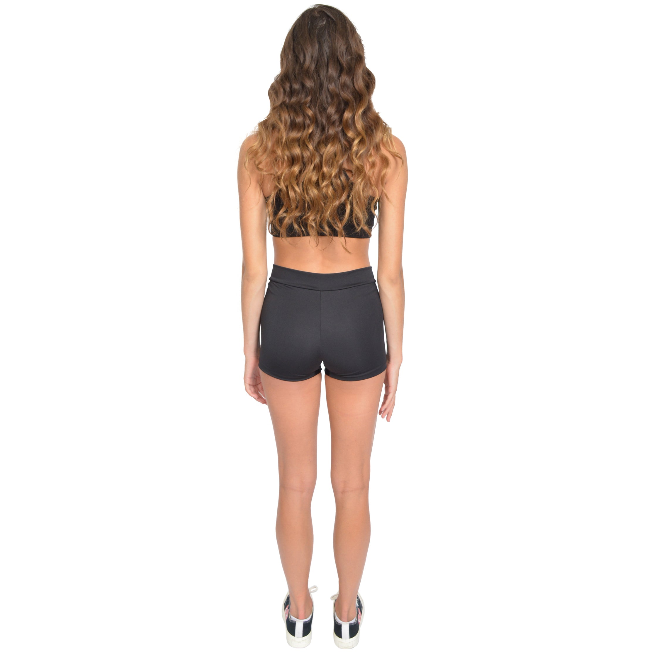Women's V-Waist Performance Polyester Stretch Booty Shorts