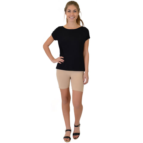 Women's High-Low Boatneck Modal Tee