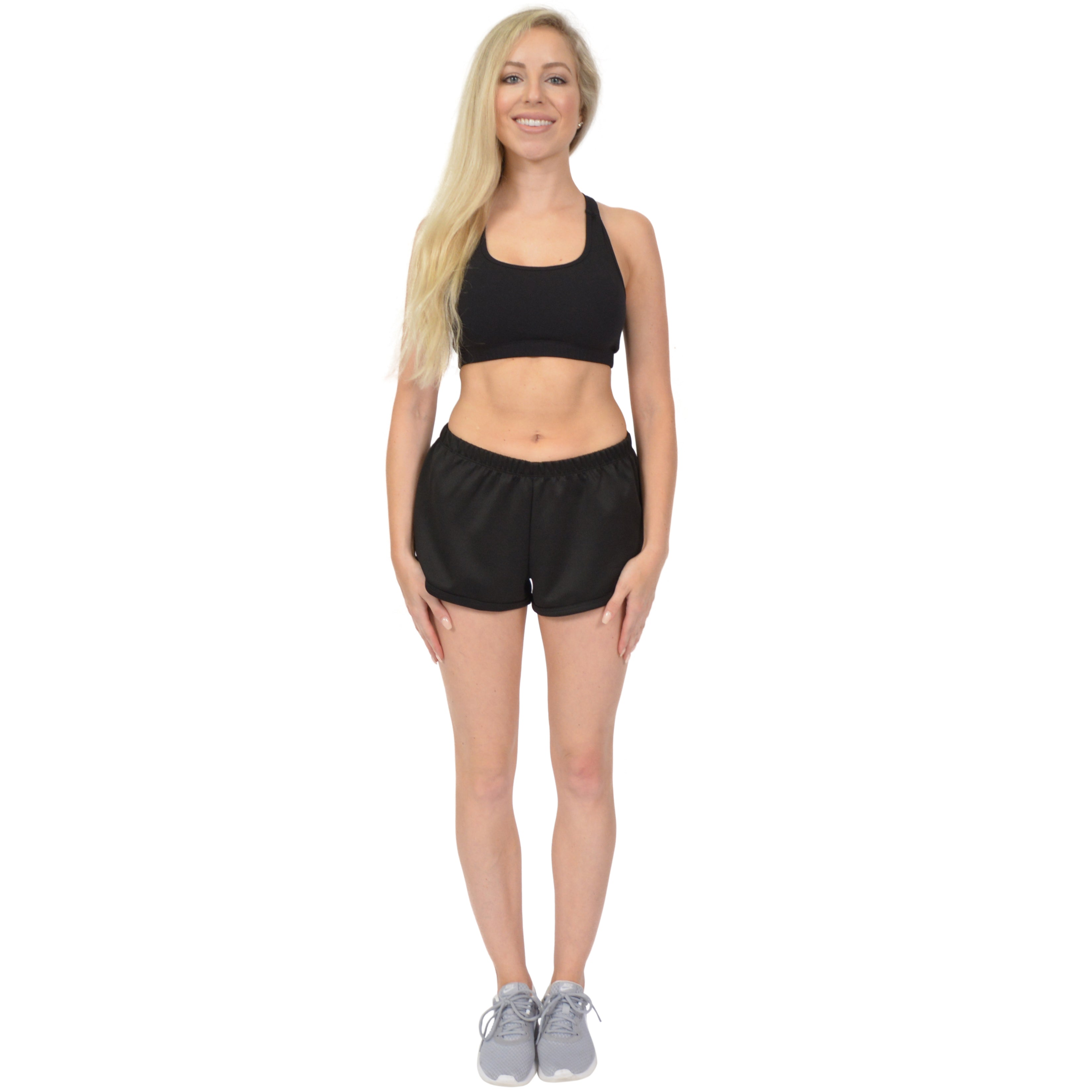 Plus Size Running Workout Fitness Shorts