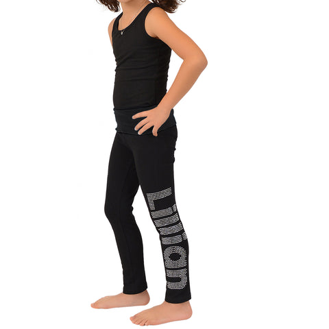 Girl's Personalized Custom Foldover Leggings