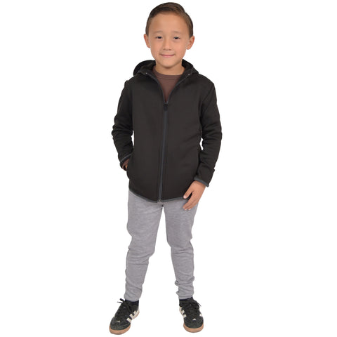 Boy's Performance Brushed Fleece Hooded Jacket with Pockets