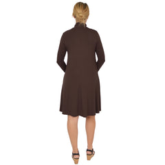 Women's Katherine Lightweight Turtleneck Pocket Dress