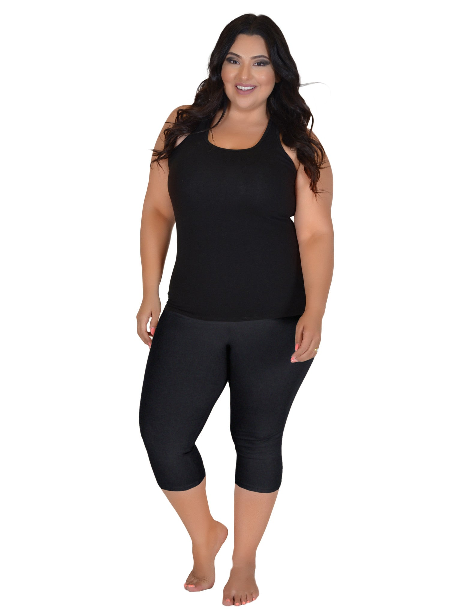 Plus Size Circuit Knee Length Leggings