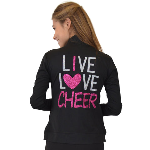 Women's Rayon Live Love Cheer Warm Up Jacket