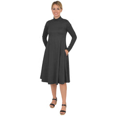 Women's Brooklyn Mock Neck Long Sleeve Dress